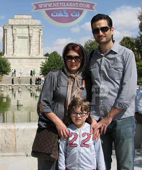 عکس پویا امینی و زن و پسرش