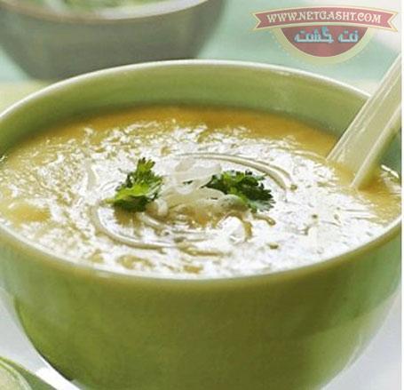 طرز تهیه و طبخ سوپ تره فرنگی و سیب زمینی