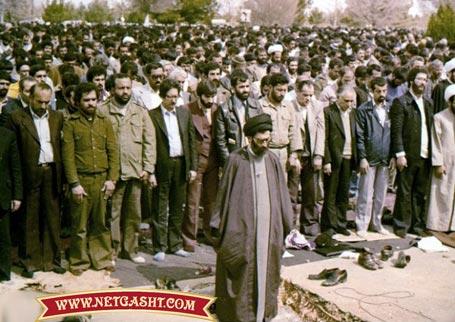 وقتی که ابوالحسن بنی صدر در نماز به آیت الله خامنه ای اقتدا می کرد