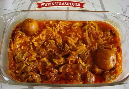 طرز تهیه و طبخ خورش خلال کرمانشاهی