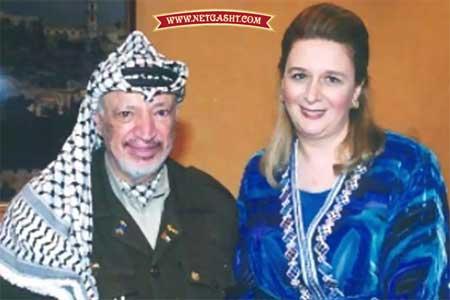 یاسر عرفات و همسرش سهي الطويل