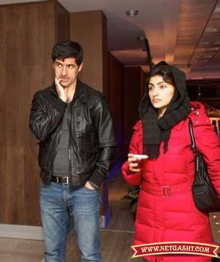 کریم باقری و همسرش
