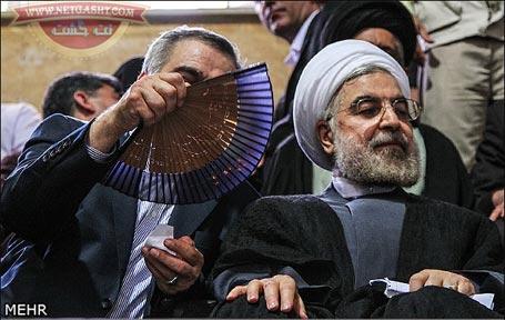 بادبزن انسانی رئیس جمهور منتخب، دکتر حسن روحانی