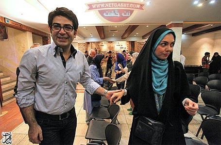 آزاده نامداری و فرزاد حسنی دست در دست هم - جدیدترین عکسها بعد از ازدواج