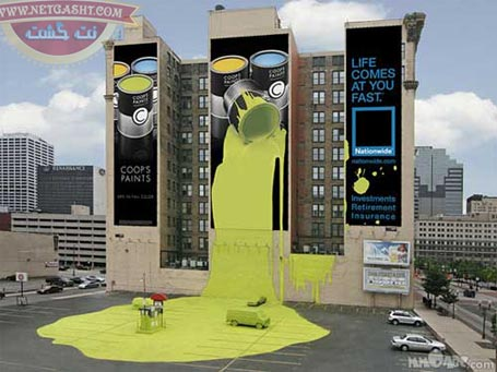 عکس نوآوری و ایده خلاقانه تبلیغاتی چسب قطره ای