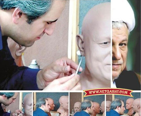 عکس های بسیار دیدنی از مجسمه آیت الله هاشمی رفسنجانی در انداه واقعی