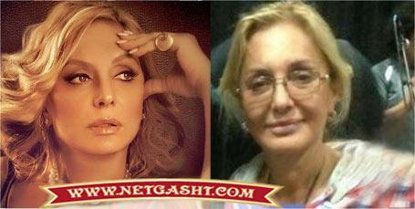 عکس گوگوش، خواننده و مجری شبکه من و تو قبل و بعد از آرایش