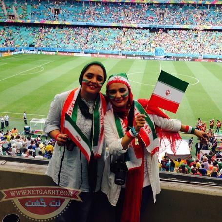 عکس های لیندا کیانی و نرگس محمدی در جام جهانی برزیل