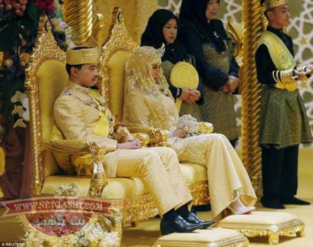 عکس های ازدواج پرخرج و اشرافی سلطان برونئی