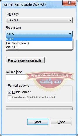 رفع مشکل کپی فایلهای با حجم بالا در فلش - فرمت NTFS