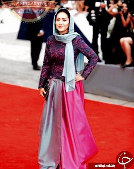 نیکی کریمی در مراسم فرش قرمز جشنواره فیلم ونیز