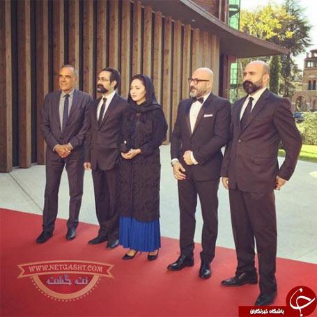 امیر آقایی، علی و وحید جلیلوند در مراسم فرش قرمز جشنواره ونیز