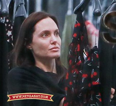عکس لو رفته آنجلینا جولی بدون آرایش