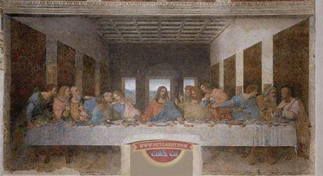 نمونه زنده تابلو شام آخر لئوناردو داوینچی