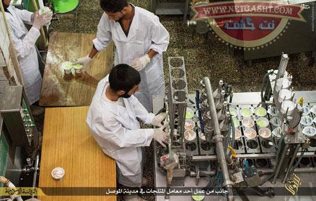 آغاز به کار کارخانه تولید بستنی میوه ای داعش در موصل + عکس