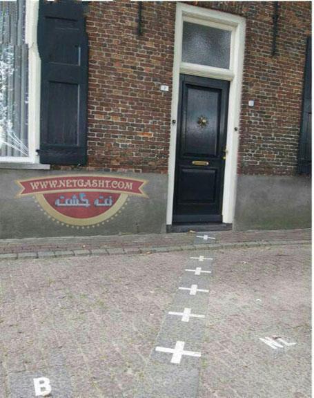 عکسی جالب از خانه ای که نصفش در بلژیک است و نصفش در هلند