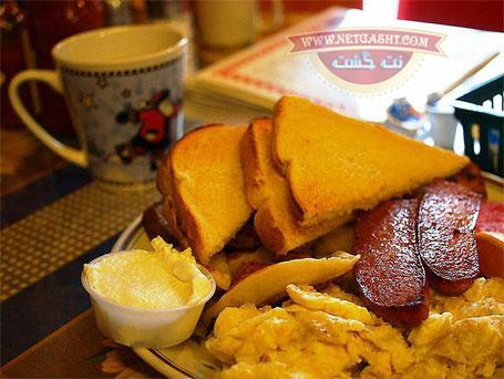 عکس تزیین و چینش میز صبحانه در کشور کانادا