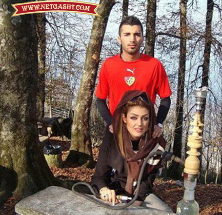 عکس های جنجالی بازیکن مشهور پرسپولیس و همسرش