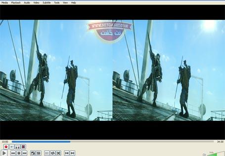 روش دیدن فیلمهای سه بعدی با کامپیوتر- تبدیل سه بعدی به دو بعدی با VLC Player