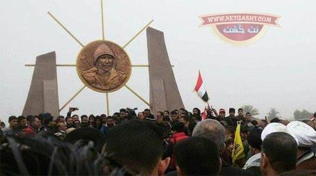 نصب یادمان شهید تقوی فر، فرمانده ایرانی در عراق