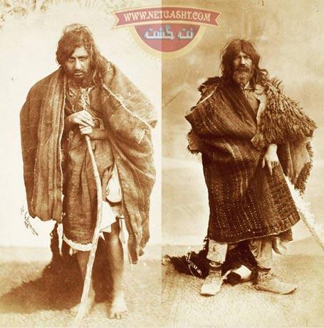 عکسی از تیپ و لباس گدایان زمان قاجار