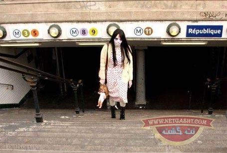 عکس های چندش آور و حشتناک زیر مربوط به جشن زامبی ها در لندن