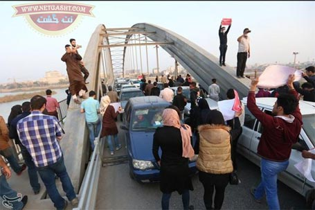 تجمع اعتراض آمیز اهوازی ها- خوزستان آب، برق، نفس ندارد