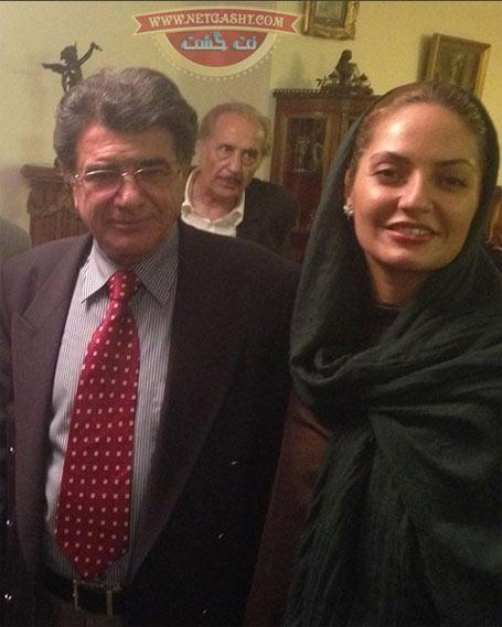 عکسی از مهناز افشار در کنار محمدرضا شجریان