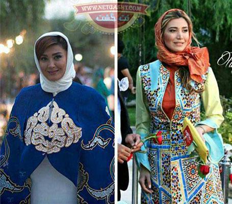 عکس های تیپ ، لباس و مانتوهای عجیب بازیگران در جشن سینمایی حافظ ، شوی لباس، نمایشگاه مد، مدل های خنده دار بازیگران