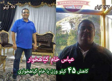 عکس های قبل و بعد از رژیم خام گیاهخواری - کاهش وزن و تناسب اندام عالی
