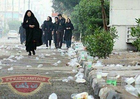 عزادارانی که زباله را در سطح شهر رها کردند، با چه منطقی راضی شدند پس از یک عمل مذهبی اینگونه چهره شهر را زشت کنند