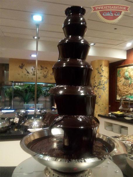 عکس فواره شکلاتی در رستوران برج میلاد