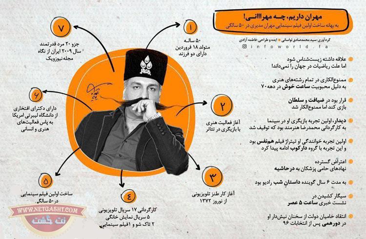 اینفوگرافیک مهران مدیری