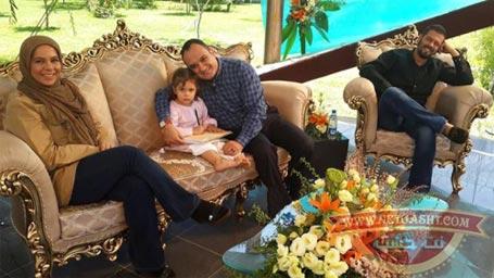 پژمان بازغي به همراه همسرش مستانه مهاجر