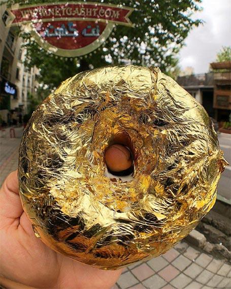 دونات طلایی، شکلاتی با روکش طلا - فخرفروشی لاکچریهای تهران