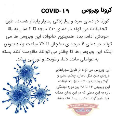 ویروس کرونا در چه دمایی از بین می رود